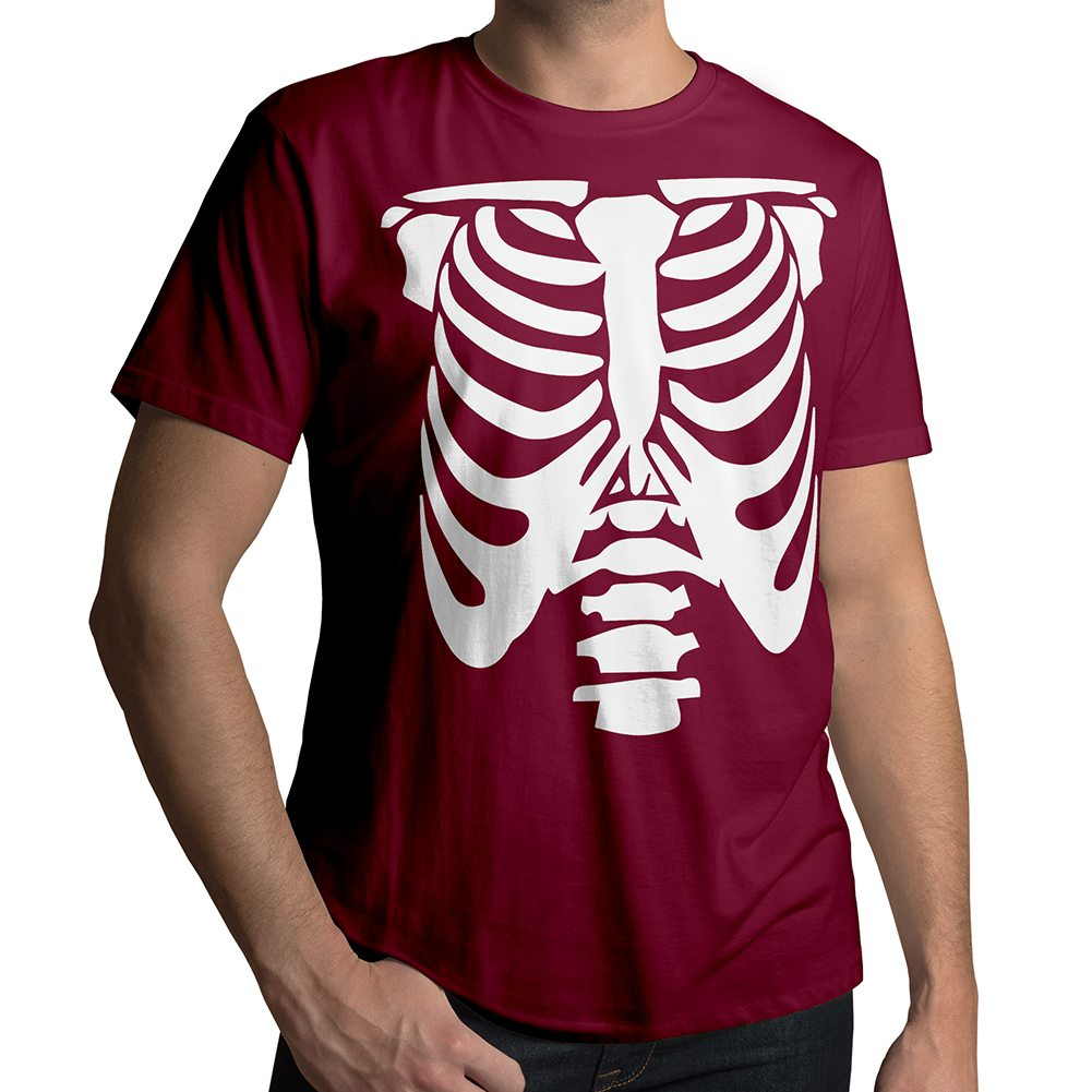 Rib Cage Body Skeleton Halloween Costume Funny Awesome ...