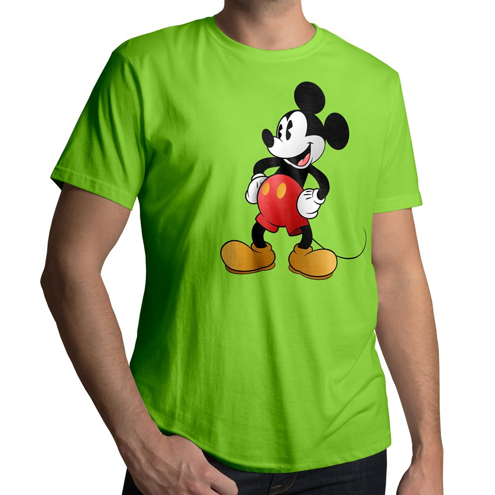 retro original disney mickey mouse mens crew neck tee unisex t shirt. Black Bedroom Furniture Sets. Home Design Ideas