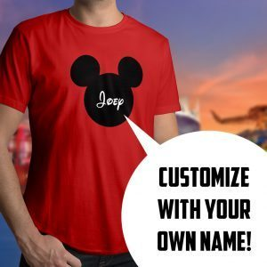 Personalized Mickey Mouse Silhouette