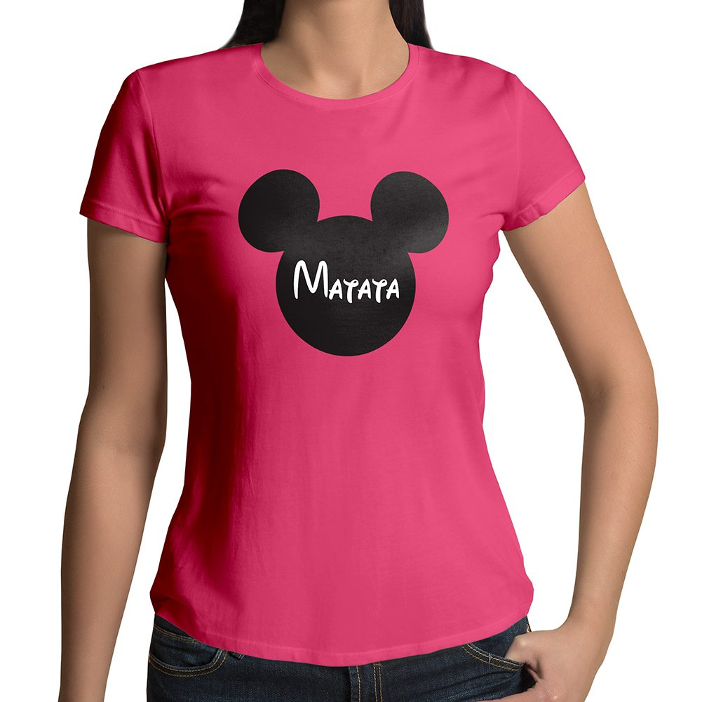 Personalized custom print your text mickey mouse crew neck Custom printed women s t shirts